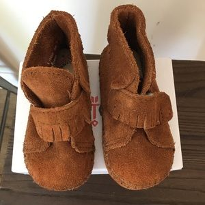 Minnetonka toddler moccasins.